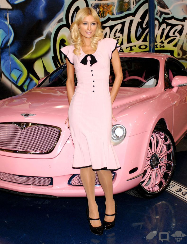 Barbie Car Bentley Continental With Paris Hilton